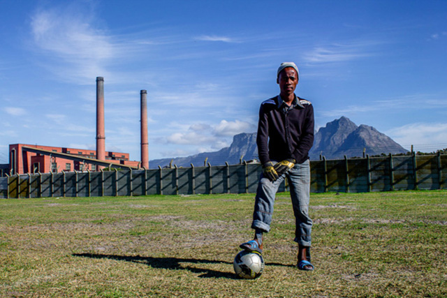 "Soccer player, Cape Town. Photograph by Sipho Mpongo from the ""Twenty Journey Project"" - www.twentyjourney.com"